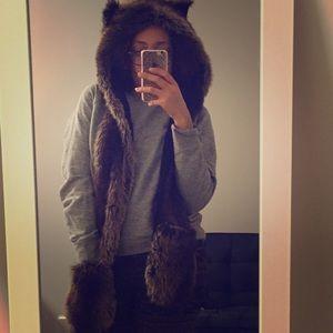 Accessories - Faux Fur Bear hat