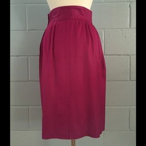 Vintage Irka Magenta Pencil Skirt, size 4/6