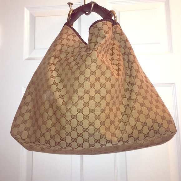 2bf868ae067 Gucci Handbags - Gucci Horsebit Hobo GG Canvas Large Bag