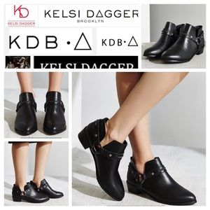 Kelsi Dagger Brooklyn Black Vermont Harness Bootie