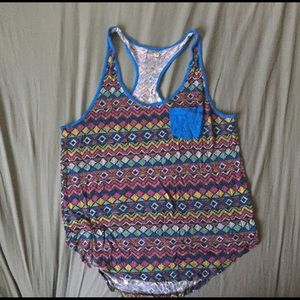 Nollie Tops - Multi-colored patterned tank