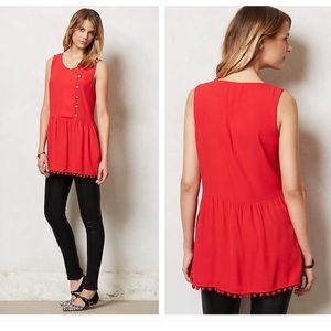 ❤️Take 15% Off❤️ Anthropologie Pleated Ruby Tunic
