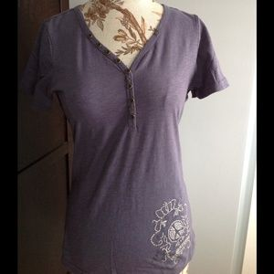 RETAIL NWT short sleeve printed V Neck top