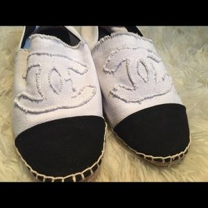 Shoes - CHANEL white espadrille