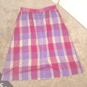 Vintage plaid a line skirt sz M