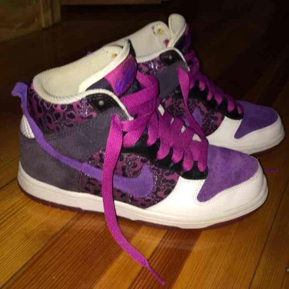Nike Shoes | Purple Leopard Nike High