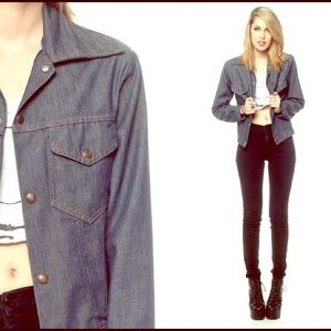 VINTAGE 1970s RARE Montgomery Ward Denim Jacket