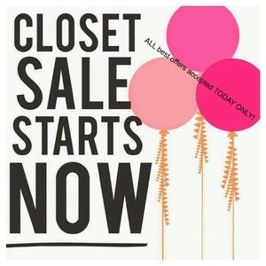 Closet Sale! All reasonable best offers accepted!