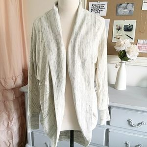 Heathered Cream Dolman Cardigan