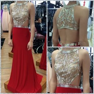 Alyce Paris Red Prom Dress Size 2