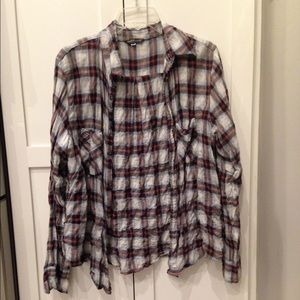 American Colors Tops - American Colors Plaid Button top