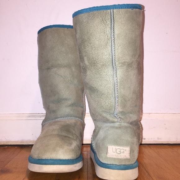 Womens light blue Classic Tall UGG boot