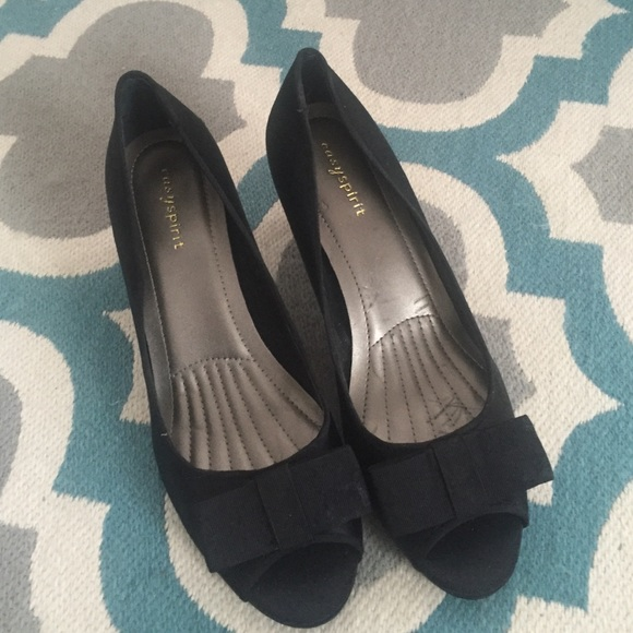Easy Spirit Shoes Black Heel Peep Toe Dress Poshmark