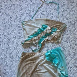 Crop top and skirt set!