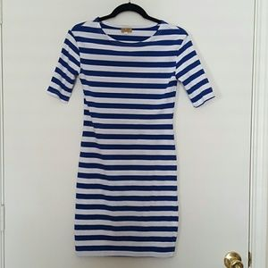 Piko striped knit dress size S