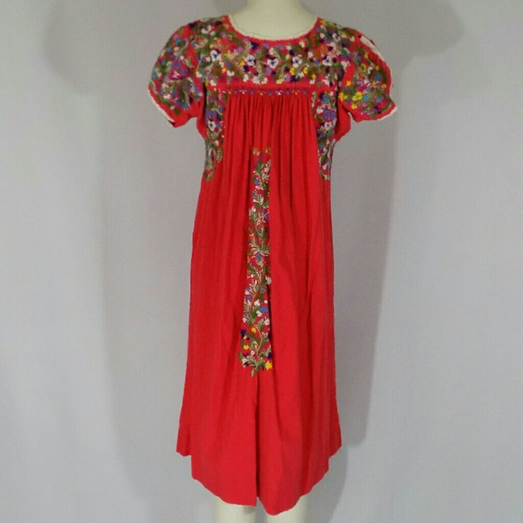Vintage Dresses Mexican Bohemian Embroidered Maxi Dress Poshmark