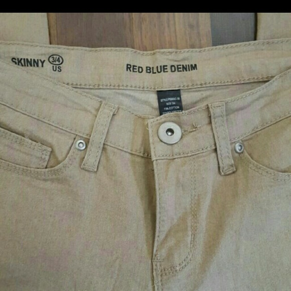 red blue denim - Brand new tan/khaki jeans size 3/4 from ...