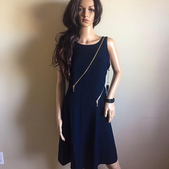a89e1c53bff Ivanka Trump Dresses | Navy And Gold Zipper Dress | Poshmark