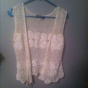 Tops - Crochet boho vest