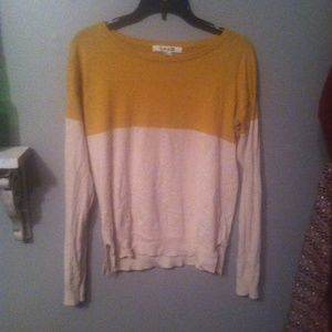 Mustard yellow and cream sweater