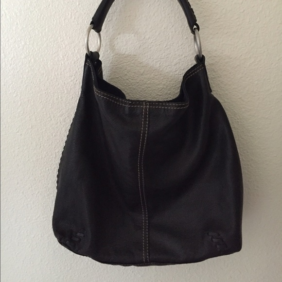 82% off Lucky Brand Handbags - Lucky Brand Black Leather Hobo Bag ...