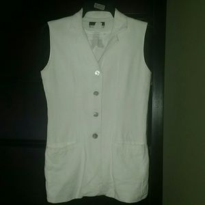 New York Studio  Jackets & Blazers - White linen vest