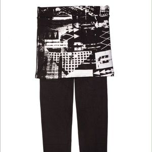Peony and Moss Pants - 🚨PRICE FIRM Hand Printed Skirted Leggings