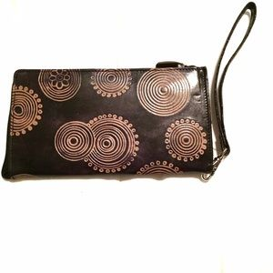 Patterned Faux Leather Wallet/clutch