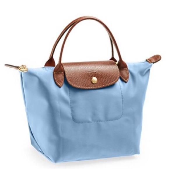 489a11afe35 Longchamp Bags | Mini Le Pliage Bag In Light Blue | Poshmark