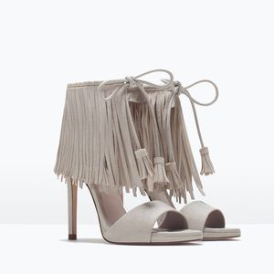 Zara Shoes - Zara Fringe Heels