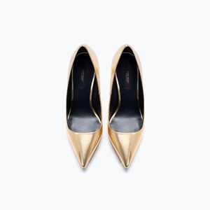 Zara Shoes - Zara Basic Gold pumps