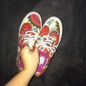 printed vans shoes womens