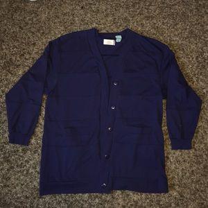 Vintage Navy Blue Cardigan