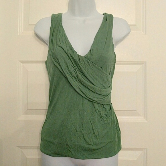 benetton Tops - Benetton drape front greek goddess top green xs