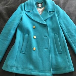 REDUCED!! ❄️Tiffany Blue JCREW pea Coat