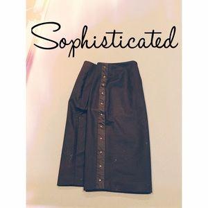 Studded Pencil Skirt
