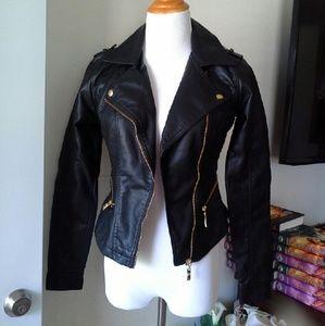 BONGO Jackets & Blazers - Moto biker leather jacket