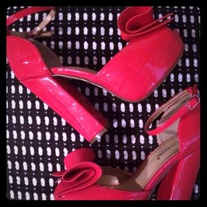 RED Patent Leather Platforms