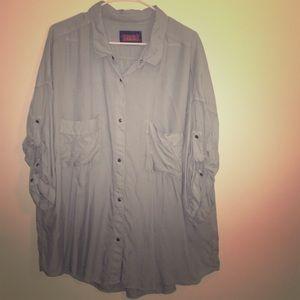 Jachs Tops - Jach's Girlfriend oversized chambray shirt
