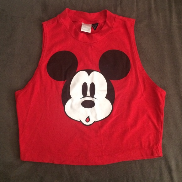 623772ad3fb Forever 21 Tops   Mickey Mouse Muscle Tee Crop Top   Poshmark