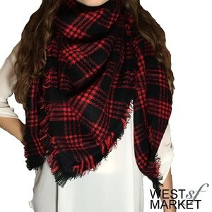 West Market SF Accessories - -BACK FOR FALL- 🍂 Plaid Blanket Scarf