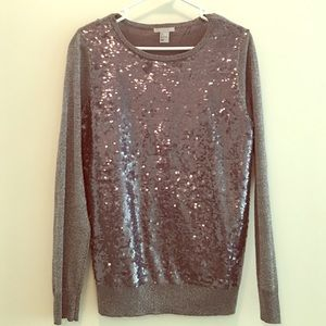 H&M Grey Sequin Sweater