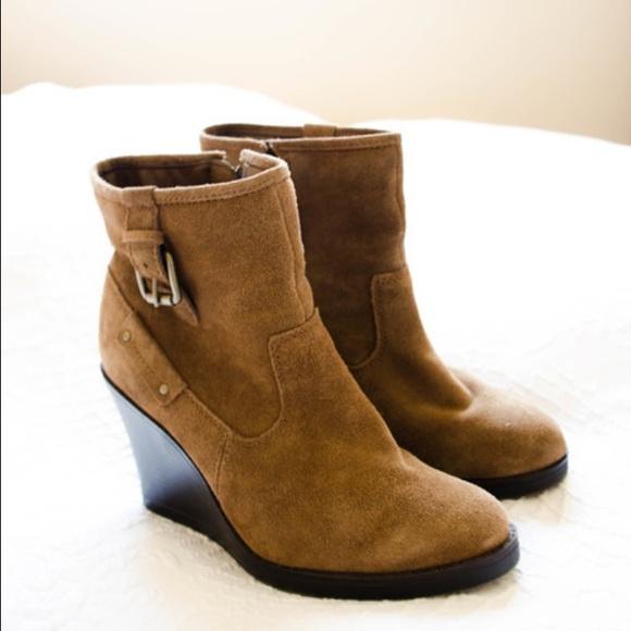 ea9a318209c0 Liz   Co Shoes - Liz Co Suede Leather Wedge Boots Size 7 M