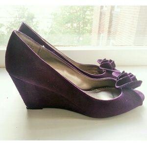 Purple Ruffle Wedges