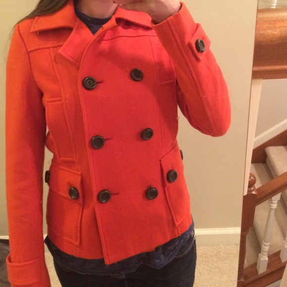 89% off Delia's Jackets & Blazers - Delia's orange peacoat from ...