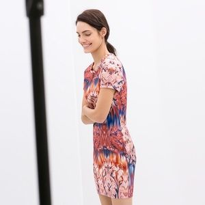 Zara Printed Bodycon Dress