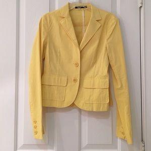 Theory yellow blazer never worn