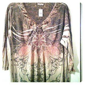 Tops - Studio Gem Size XXL rust colored shirt,