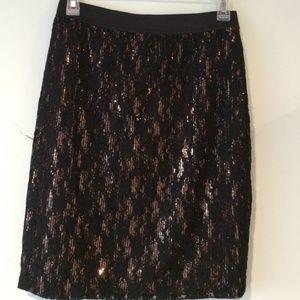 Forever 21 skirt black/gold colors