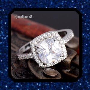Glam Squad 2 You Jewelry - 🎉HP🆕Gorgeous Cushion Cut Sterling Silver Ring